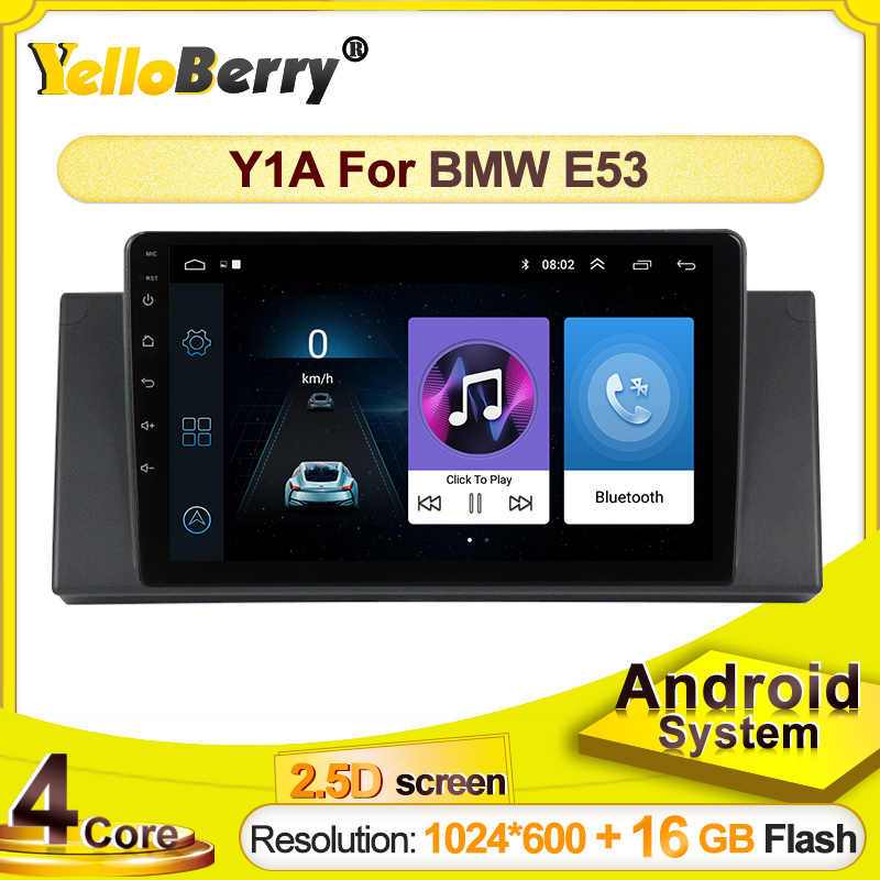 GPS mobil Radio player Untuk BMW E53 X5 E39 Android systerm Multimedia 2.5D layar sentuh video stereo