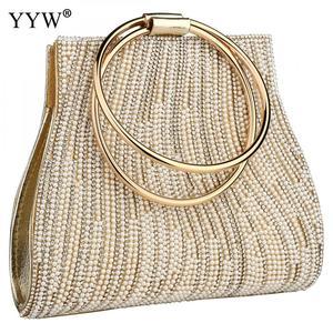 Image 4 - Sac A Main Femme Women Circle Ring Purse And Handbag Rhinestone Beaded WomenS Shoulder Bag Luxury Handbags Women Bags Designer