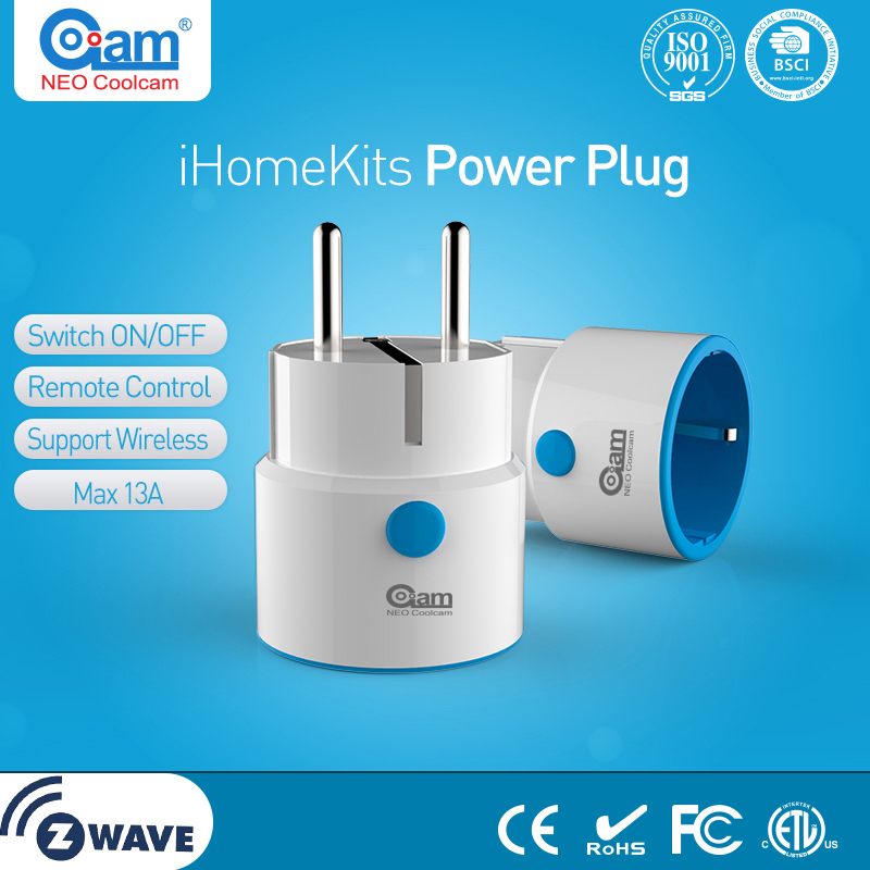 NEO COOLCAM Z-wave Plus MINI Smart Power Plug Home Automation Zwave Socket,Z Wave Range Extender Works with Wink,Smartthings
