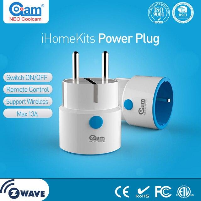 Neo coolcam tomada zwave, mini tomada de energia inteligente para automação do lar extensor de alcance de ondas z funciona com wink, smartthings