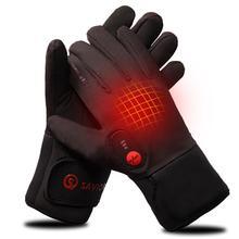 Спаситель тепла перчатки лайнер для зимнего использования езда на велосипеде Рыбалка Спорт на открытом воздухе 3-6 часов автономной работы с подогревом Перчатки сенсорный экран 2200 мАч