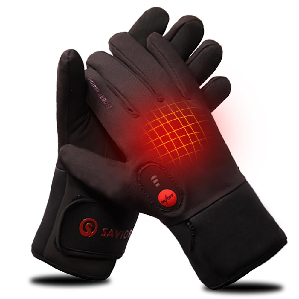 Savior heat glove liner for winter use riding biking fishing outdoor sports 3-6 hours battery heated gloves touch screen 2200MAH