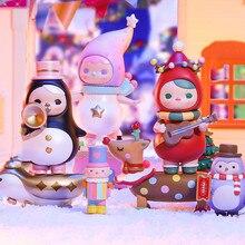 Original POPMART PUCKY Christmas Parade Series Blind Box Toys Doll 7 Style Random one Cute Anime Figure Gift