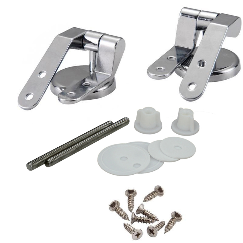 Bathroom zinc alloy toilet seat hinges toilet lid hinge with screw fittings Replacement Parts hardware Accessories mx9111642