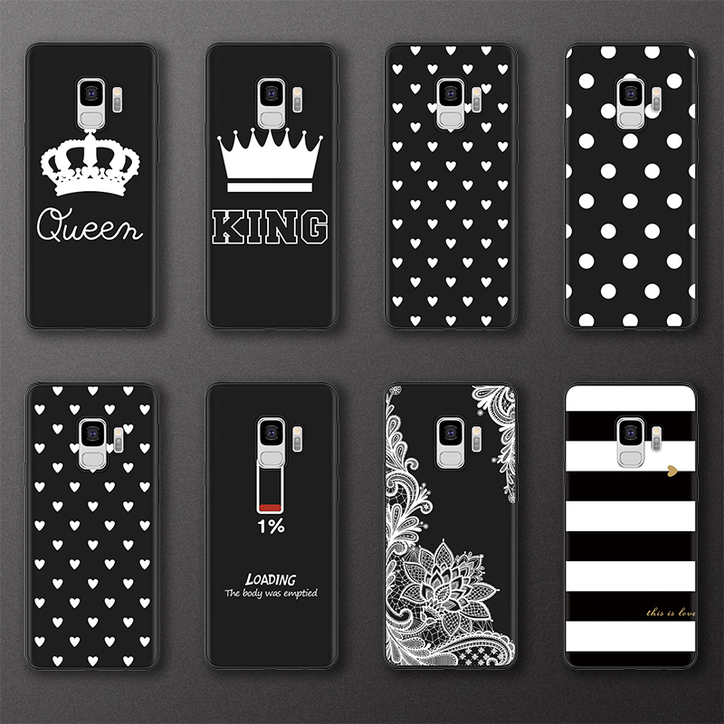 King Queen BOSS Quotes Case For Samsung Galaxy J6 J4 Plus 2018 J3 J5 J7 Prime 2016 2017 For Samsung Note <font><b>8</b></font> <font><b>9</b></font> <font><b>5</b></font> 4 Soft TPU Case image