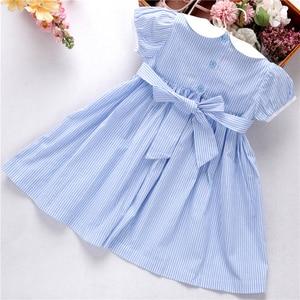 Image 5 - קיץ שמלות רקומות בנות שמלת בישוף בעבודת יד רקמת נסיכת חתונה ורוד בוטיקים בגדי ילדים L191127558