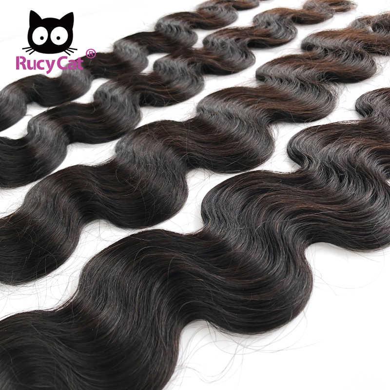 Rucycat 08-40 Inch Braziliaanse Menselijk Haar Weave Bundels Body Wave 1/3/4 Bundels Natuurlijke Kleur Remy Haar extensions