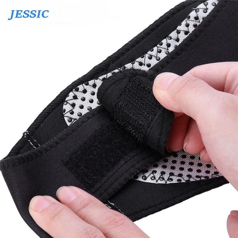 JESSIC Magnetic Therapy Thermal Self-heating Neck Pad Belt Support Brace Protector Black Massager Cervical Vertebra Protection