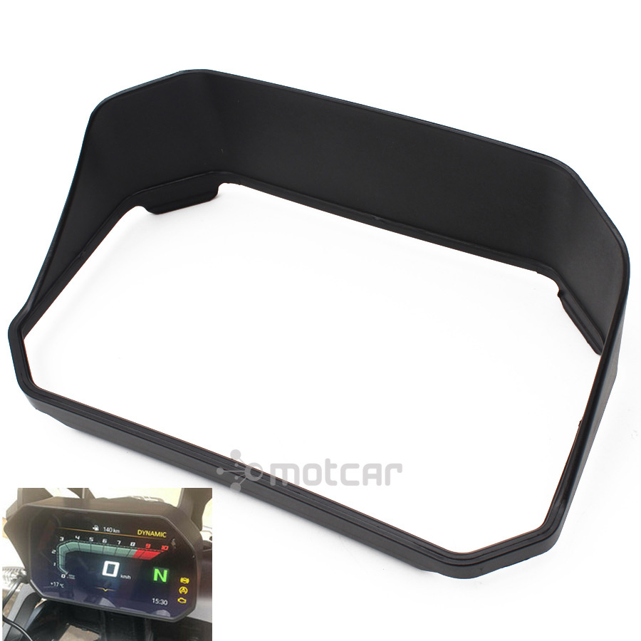 1x Motorcycle Black ABS Instrument Cage Hat Sun Visor Meter Cover Guard For <font><b>BMW</b></font> F 750 <font><b>GS</b></font> / F 850 <font><b>GS</b></font> 18-19 /R <font><b>1200</b></font> <font><b>GS</b></font> / R 1250 <font><b>GS</b></font> image