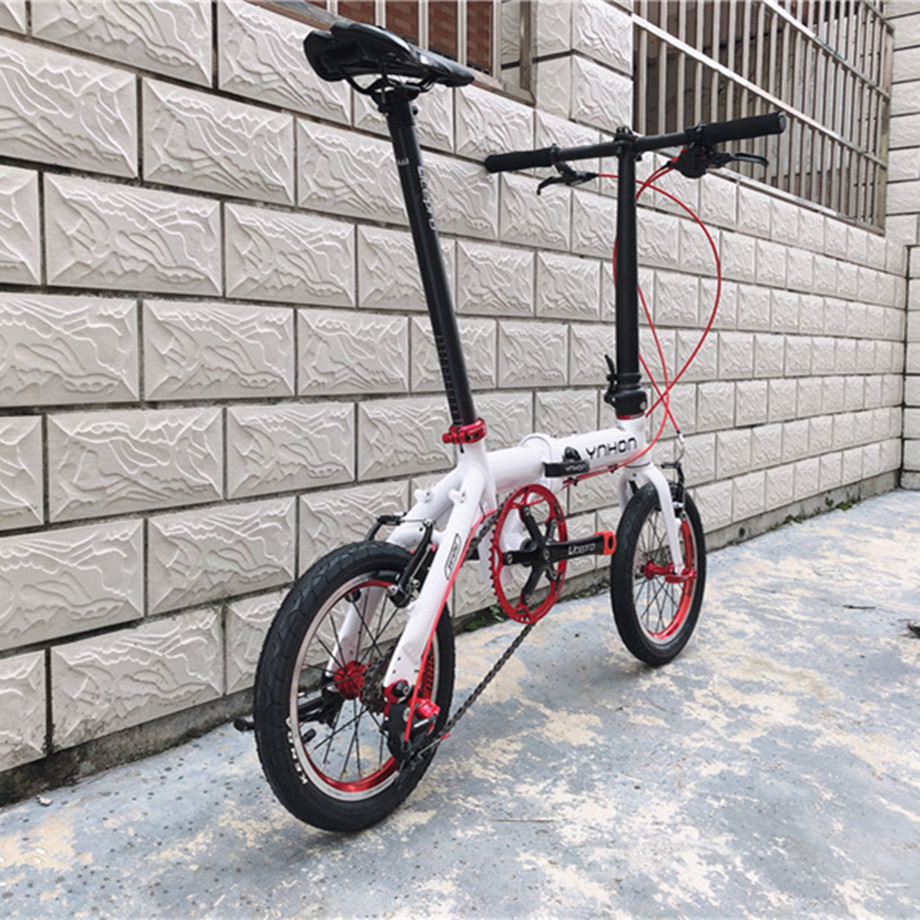 YNHON Folding Bike Aluminun Alloy 412 14/16 Inch Single-speed Outside Three-speed Kid Children's Bicycle Mini Modification