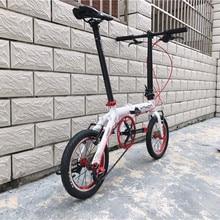 دراجة هوائية قابلة للطي من ynjon مصنوعة من سبائك الألومنيوم مقاس 412 14/16 بوصة بسرعة واحدة في الخارج بثلاث سرعات للأطفال دراجة هوائية صغيرة قابلة للتعديل