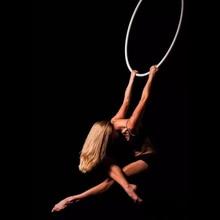 """Yüzük Fitness hava Hoop 37 """"(95cm) 25mm genişlik Yoga egzersizleri için hava Lyra çemberler aksesuarları dahil ev jimnastik salonu"""