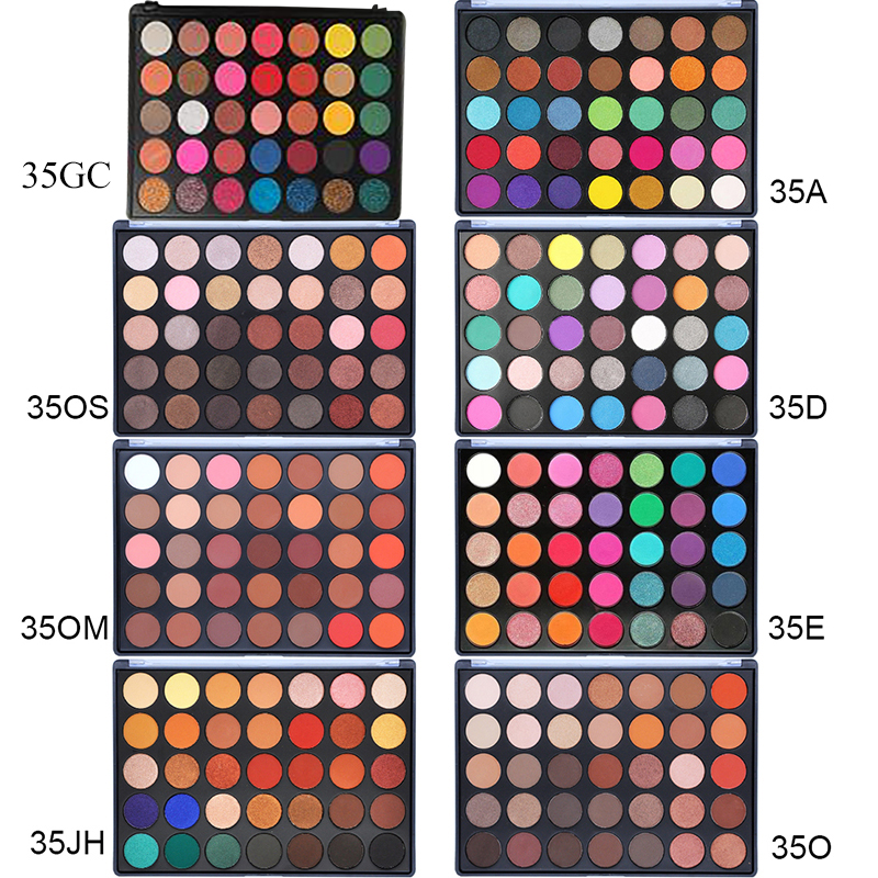 VERONNI 35 Colors Nude Eyeshadow Makeup Shimmer Waterproof Professional Matte Glitter Eye shadow Make up Palette