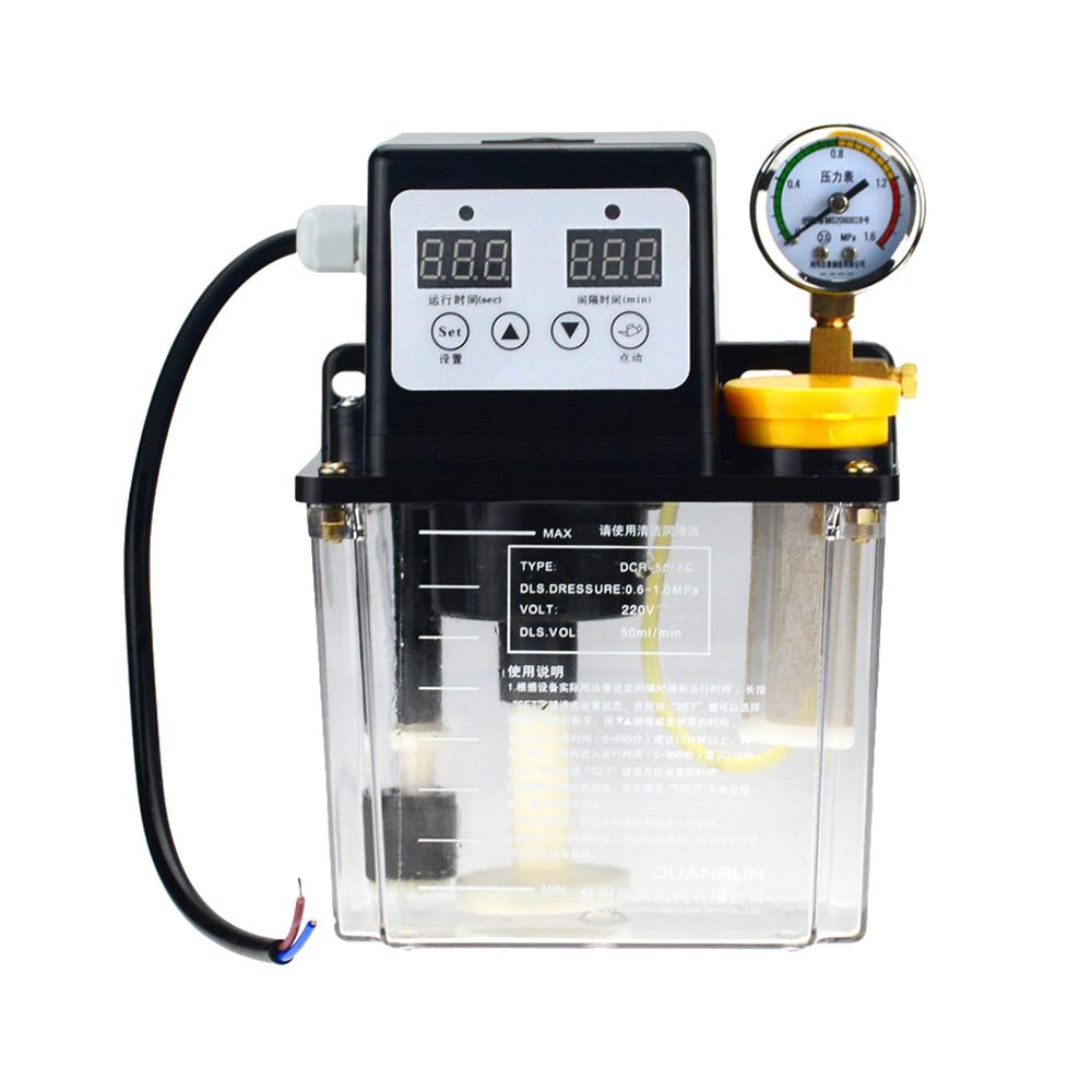 1pc 2L 2 Liters lubricant pump automatic lubricating oil pump 1L 1 Liters 220V cnc electromagnetic lubrication pump lubricator|Pumps| |  - title=
