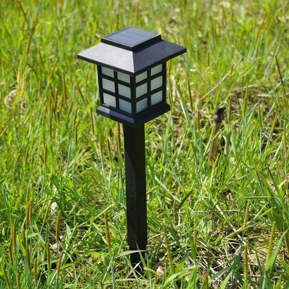 Solar LED Garden Lawn Lamps Light For Decoration Outdoor Columns Post Lantern Pole Lamp Pathway Landscape Lighting Waterproof