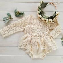 Blotona Nette Neugeborene Baby Mädchen Sleeveless/Lange Hülse Spitze Romper Overall Tutu Kleid Outfits Kleidung 0-24M