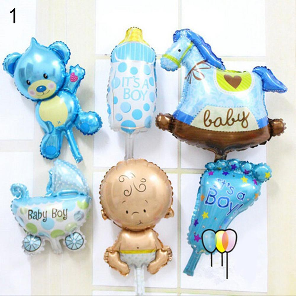 6 Pcs/Set Angel Baby Shower Foil Balloons Kid Boy Girl Birthday Party Decoration Baby Toys Outdoor Inflatable Ball Gift For Kids