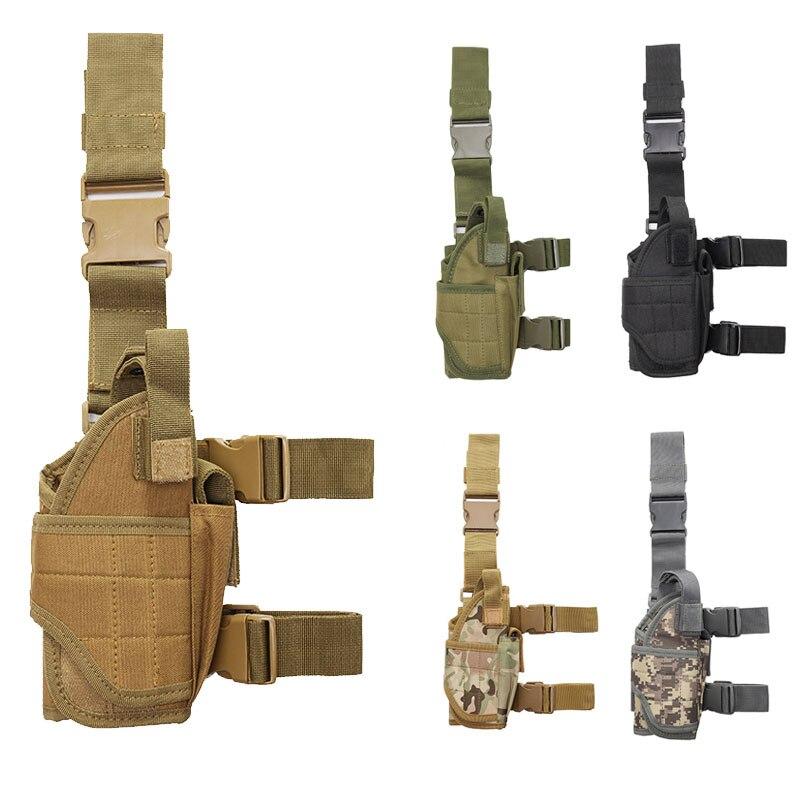 Left Hand Tactical Universal Pistol Gun Drop Leg Thigh Holster Pouch Hunting Tan