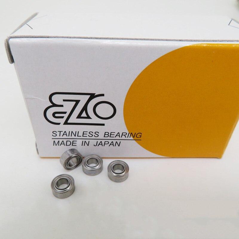 10 sztuk oryginalny japonia EZO łożysko ze stali nierdzewnej SMR74ZZ 4*7*2.5mm S674ZZ DDL-740ZZ wysoka precyzja miniaturowe łożyska kulkowe