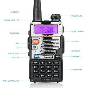 Image 4 - 2 шт BaoFeng UV 5RE двухдиапазонный 136 174/400 480 МГц 128CH FM радио