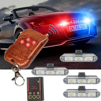цена на Strobe Light police light flasher LED police lights stroboscopes Strobe Lights Police led lights auto fso flash flashing