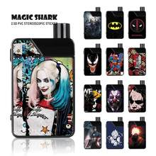 Magic Shark Bola Joker Racun Deadpool Iron Man Batman Stereo 3M PVC Vape Stiker Film Penutup untuk Smok mengambil(China)