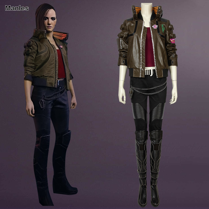 Game Cosplay Costume Halloween Adult Coat Jacket Custom Carnival Pants Shirt Vest Halloween Costumes For Women Necklace Boots