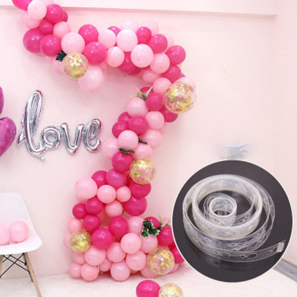 5M Ballon Kette Band Verbinden Streifen mit Löch Hochzeit Geburtstag Party Dekor