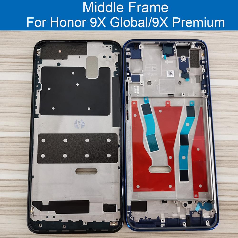 Средняя рамка для Huawei Honor 9X Global STK-LX1 передняя рамка черная зеленая Синяя Рамка Замена для Honor 9X премиум Рамка рамка