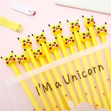 12/100Pcs Set Color Cartoon Anime Cute Kawaii Gel Pen Kawai Stationary Office Accessory Stationery Store School Supply Thing Kit