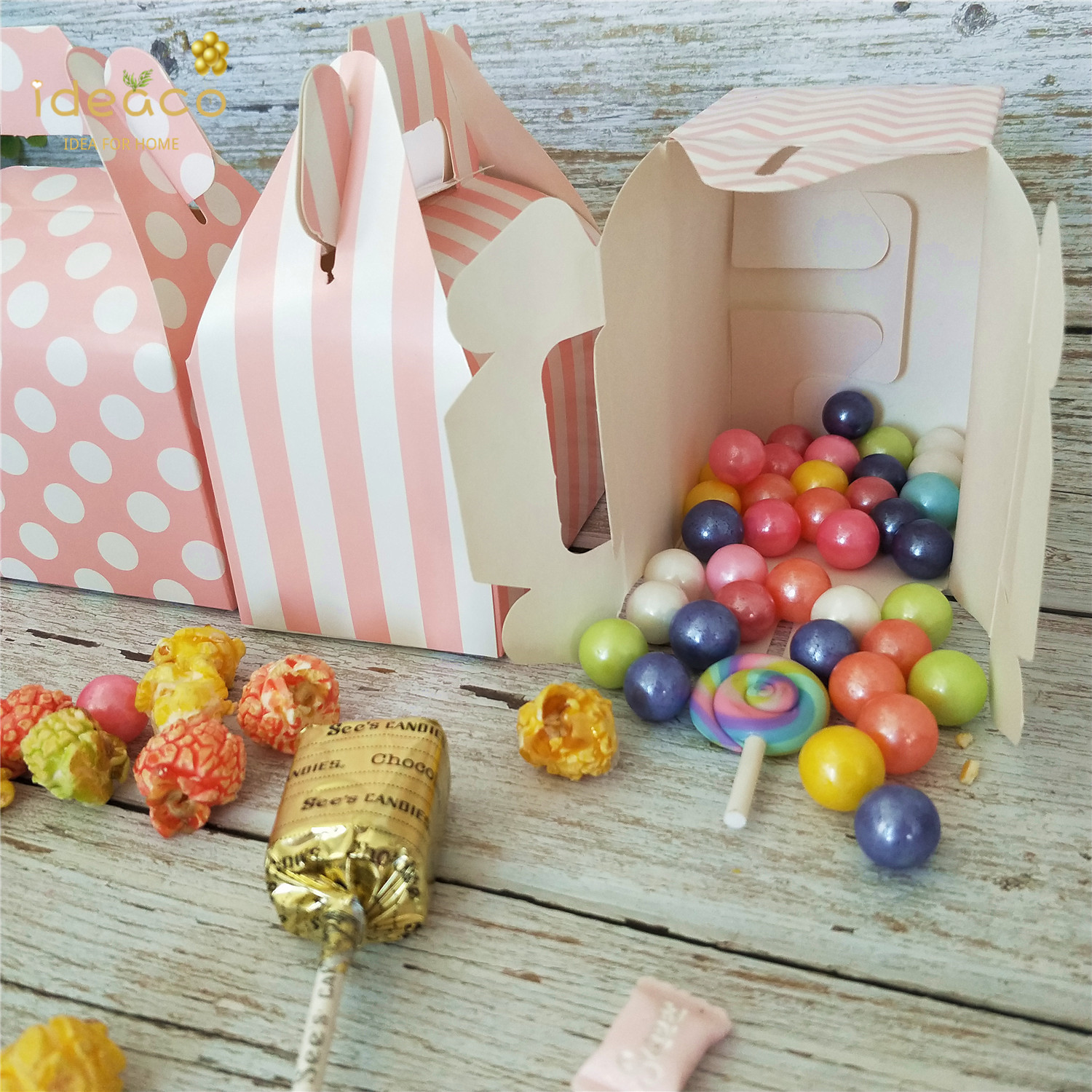 10Pack Cardboard Candy Treat Gift Box Paper Bag Birthday Wedding Party Favor