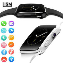 X6 Curved Screen Bluetooth Smartwatch TF SIM Camera Men Women Smart Watch for Android IOS iPhone Samsung Fashion Watches relogi