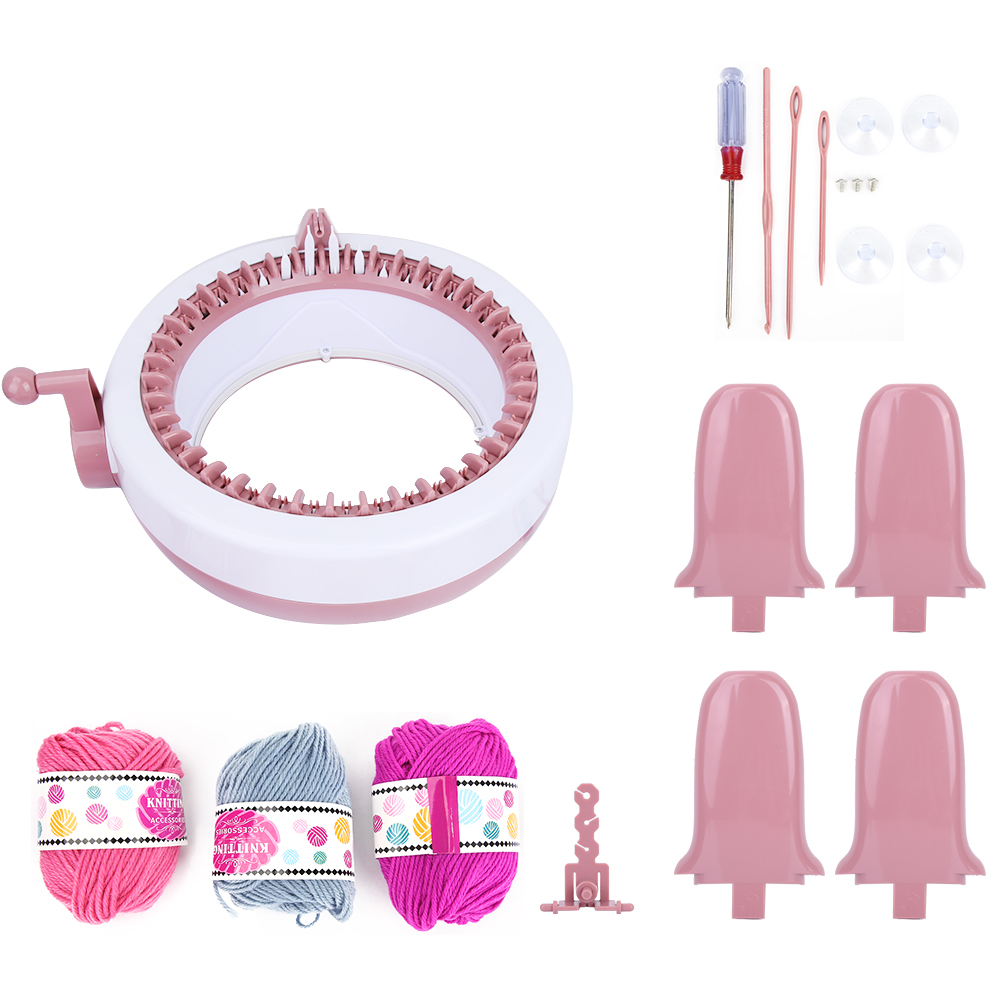 New (40 needles) DIY Plastic Hand Knitting Sewing Machine Children Weaving Toy Tool Accessories Sewing Tools