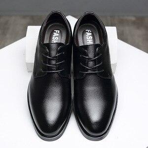 Image 3 - IMAXANNA גברים נעלי יוקרה מותג אמיתי עור עסקי שמלת חתונת נעלי גבר קלאסי עור נעלי נעליים בתוספת גודל 38  47
