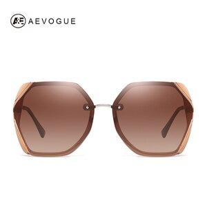 Image 2 - AEVOGUE Neue Frauen Polygon Oversize Mode Reise Polarisierte Sonnenbrille Gradient Lens Fahren Outdoor Brille UV400 AE0818