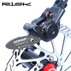 RISK MTB Disc Brake Pads Adjusting Tool Bicycle Pads Mounting Assistant Brake Pads Rotor Alignment Tools Spacer Bike Repair Kit