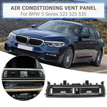 1 pçs frente centro saída de ar ventilação painel traço grille capa para bmw série 5 f10 f18 520 523 525 interior molduras painel grille