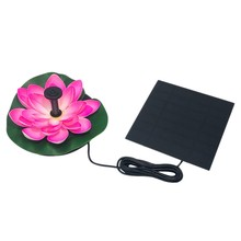 Floating Lotus Flower Tenaga Surya Kolam Air Mancur Kit, Fitur Air(China)