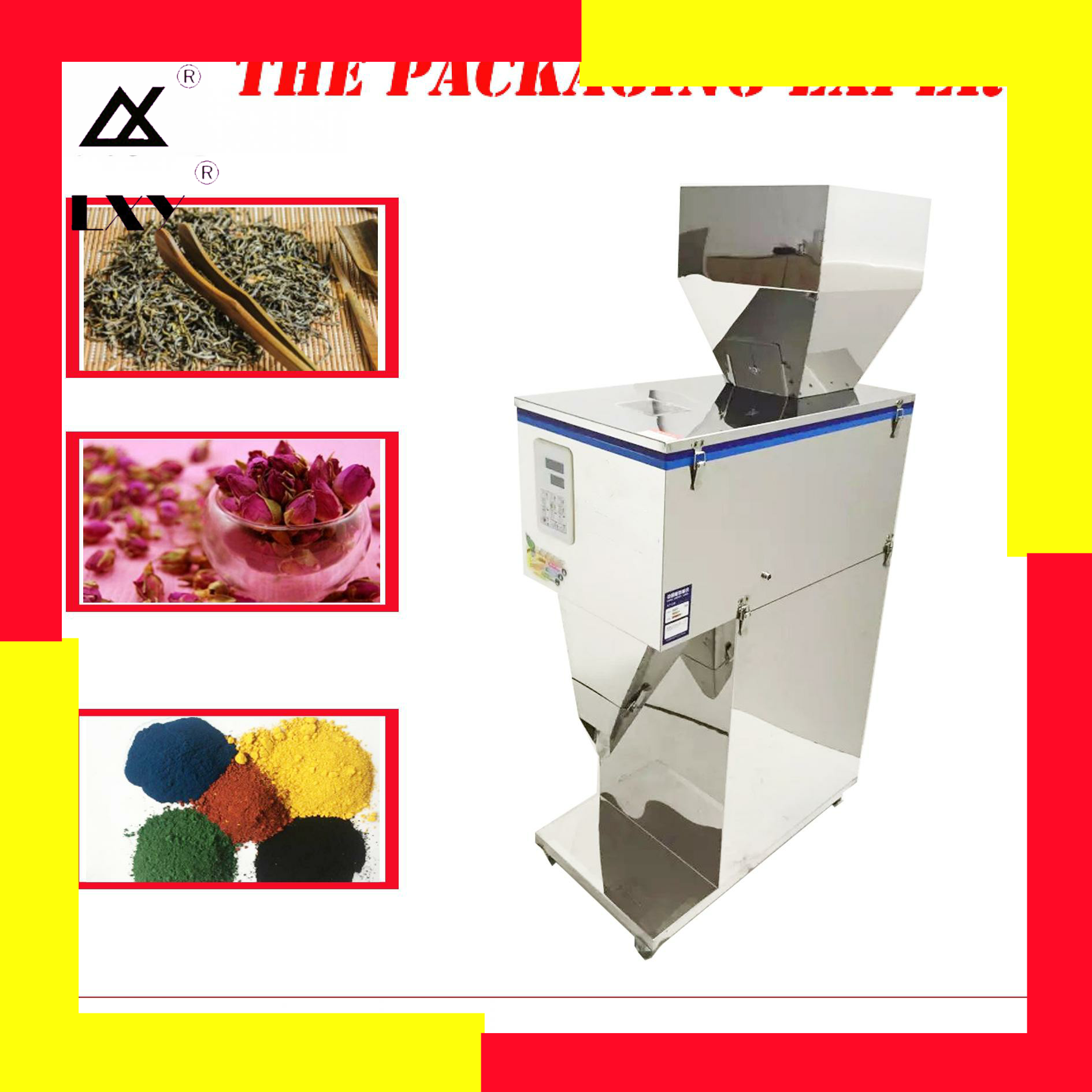 5000g Weight And Filling Machine Coffee Beans Tea Leaf Grain Seed Salt Rice Racking Machine Milk Powder Filler Free Shipping
