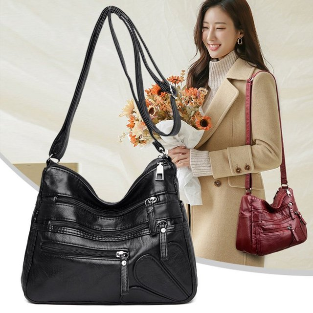 High Quality Women's Soft Leather Shoulder Bags Multi-Layer Classic Crossbody Bag Luxury Designer Handbag and Purse 3