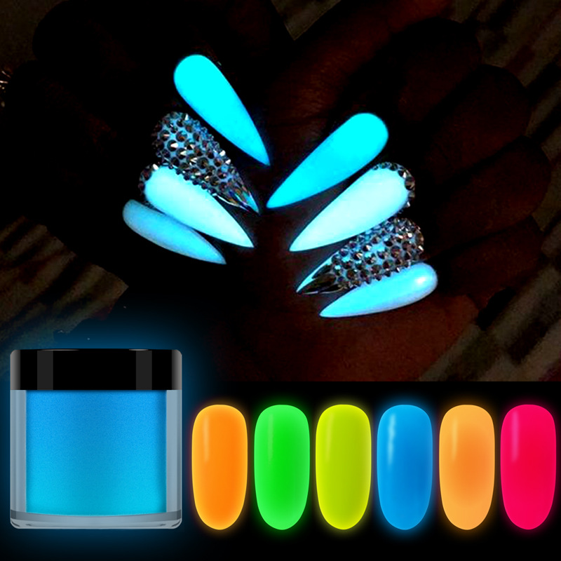 10ML bottled nail art luminous carved powder super bright 8 colors optional three-in-one infiltration extension available