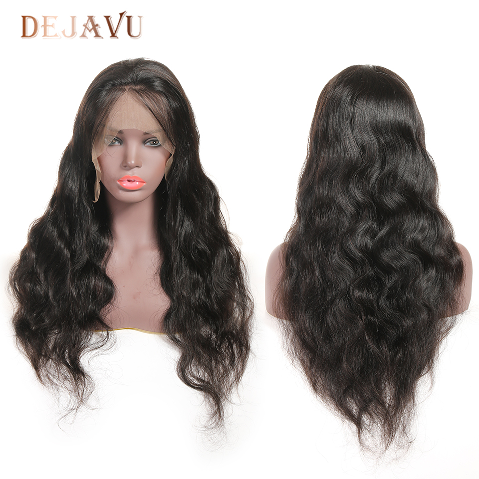 Dejavu Lace Front Human Hair Wigs Body Wave Human Hair Wigs 13*4 Lace Front Wig India Non-Remy Hair Lace Wigs For Women