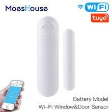 Window-Sensor Home-Alarm Alexa Smart Security-Detector Compatible APP Door Wifi