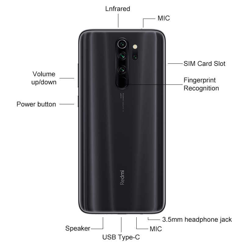 "Global Rom Xiaomi Redmi Note 8 Pro 6Gb 64Gb 18W Opladen 64MP Quad Achteruitrijcamera Smartphone Helio g90T Octa Core 6.53 ""Fhd + Sch"
