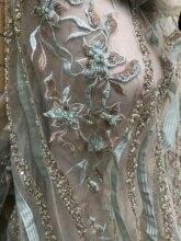 Tela de encaje de red bordada, única y popular, JIANXI.C 209809, tela de red con cuentas de flores bonitas para vestido de novia