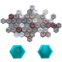 Hexagon Geometric Wall Concrete Molds Silicone Forms TV Back