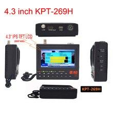 KPT 269H DVB S/S2 4.3 Inch Protable Multifunctional HD Satellite Finder & Monitor Digital Satellite TV Receiver Finder Meter
