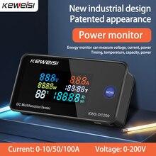 DC 0-200V voltmetro amperometro KWS Power Energy Meter LED Digital DC Wattmeter contatore elettrico con funzione di ripristino 0-100A