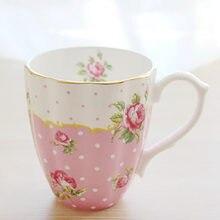 Кофейные чашки в пасторальном королевском английском стиле из