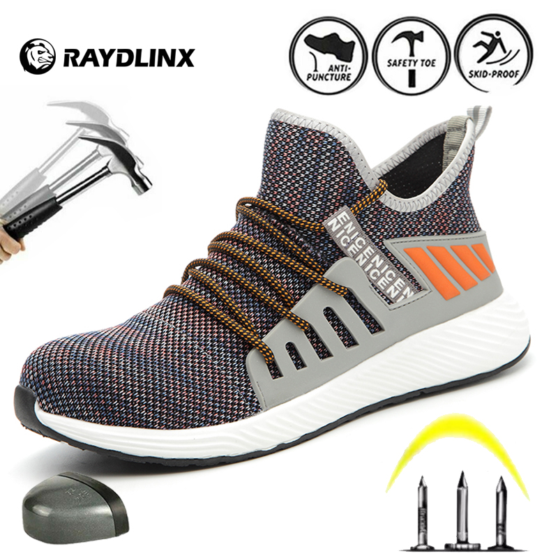 Ultimate SaleRAYDLINX Breathable Men's Safety Shoes Boots With Steel Toe Cap Casual Industries Construction Work Shoes